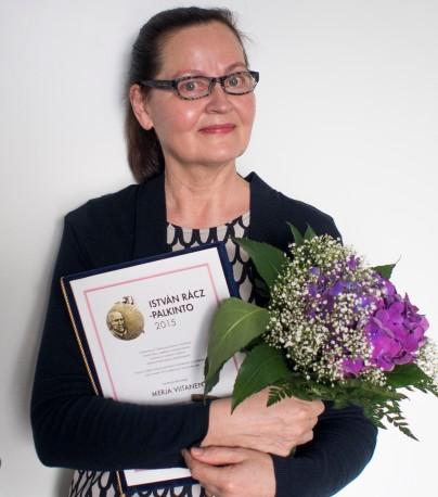 Rázc-palkinto 2015 Merja Viitanen Kuva Perttu Rastas